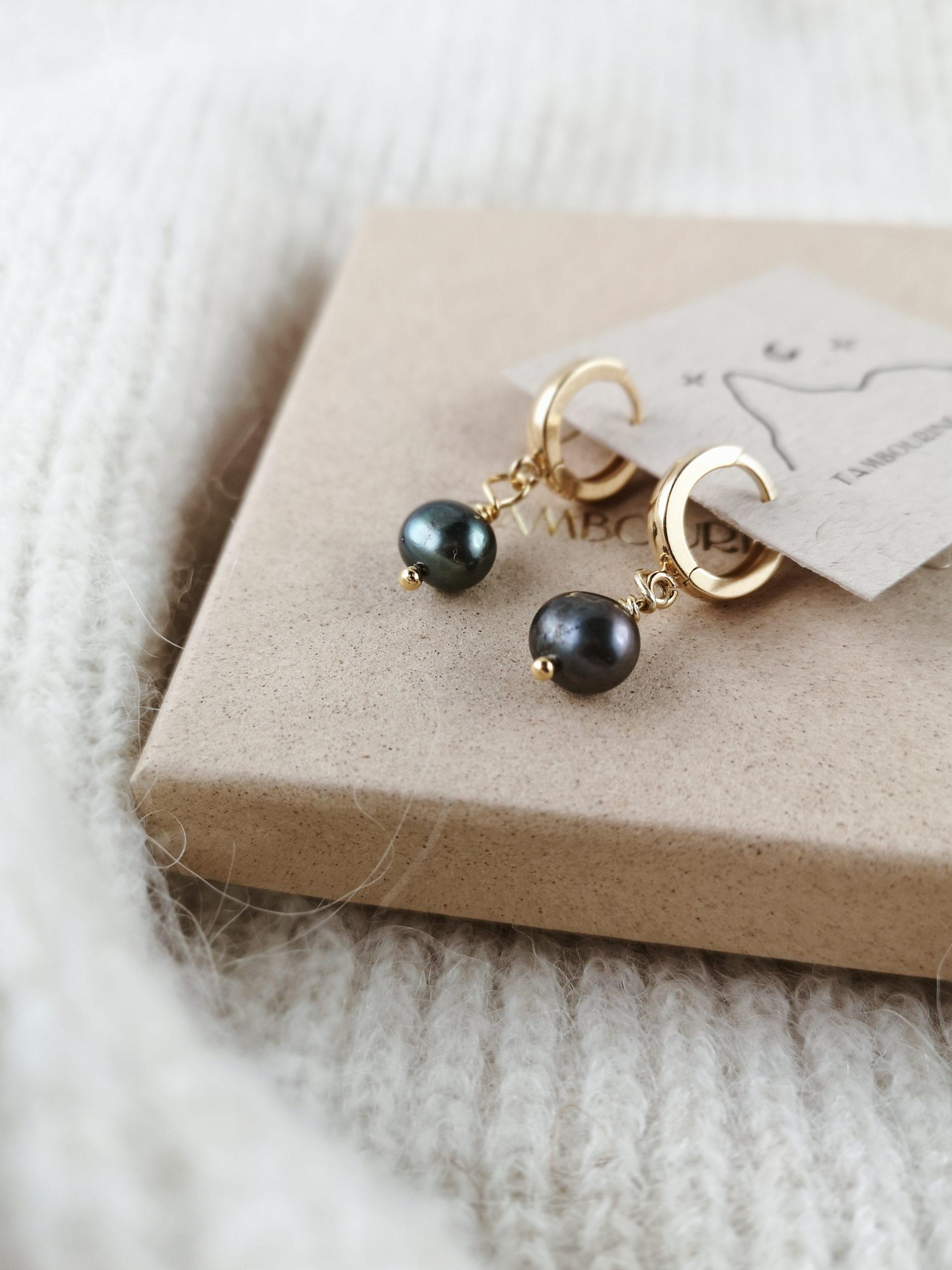 kolczyki czarna perła s